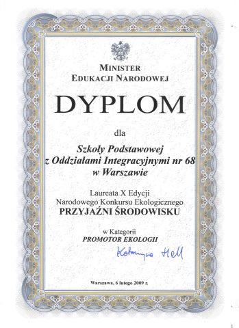 Dyplom Przyjaźni Środowisku