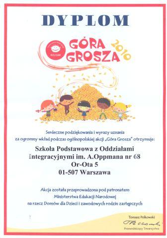 Dyplom Góra Grosza 2010