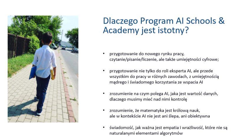 slajd z prezentacji dlaczego prorgam AI Schools & Academy jest istotny